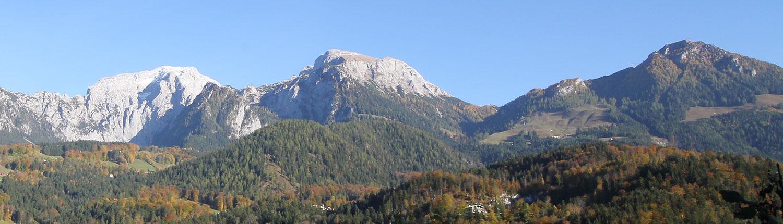 Bergpanorama im Herbst