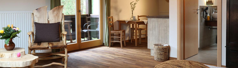 Das Studio mit Bad, Sitzecke, Küchenzeile und Balkon
