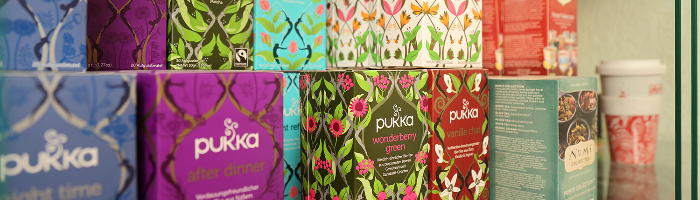 Erlesene Tees im Naturwarenladen